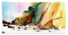 Coastal Cliffs Beach Towel