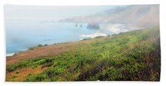 Coastal Views Fog Beach Towel