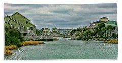 Coastal Waterway Beach Towel