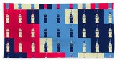 Coca Cola Collage Beach Towel