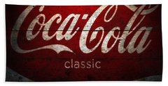 Coca Cola Wood Wall Sign Beach Towel