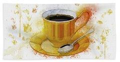 Coffee Art Beach Towel