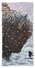 Cold Weather Cohorts Beach Towel