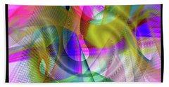 Beach Towel featuring the digital art Color Full by Visual Artist Frank Bonilla