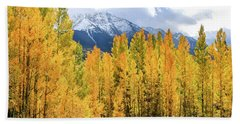 Colorado Aspens And Mountains 1 Beach Sheet