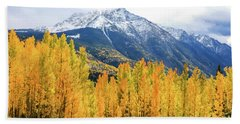 Colorado Aspens And Mountains 2 Beach Sheet