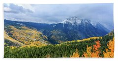Colorado Aspens And Mountains 3 Beach Towel