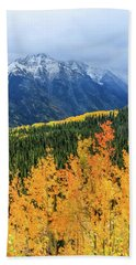 Colorado Aspens And Mountains 4 Beach Sheet