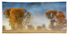 Colorado Autumn Fog Beach Sheet