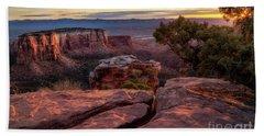 Colorado National Monument Overlook At Sunrise Beach Towel