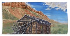 Colorado Prarie Cabin Beach Towel