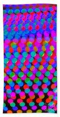 Colored Lights Beach Towel