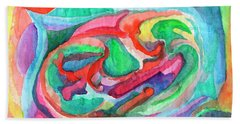 Colorful Abstraction Beach Sheet
