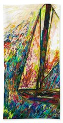 Colorful Day On The Water Beach Towel