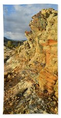 Colorful Entrance To Colorado National Monument Beach Sheet