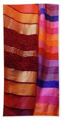 Colorful Fabrics In The Medina Market  Beach Towel