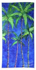 Colorful Family Of Five Palms Beach Towel