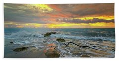 Colorful Morning Sky And Sea Beach Towel