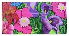 Colorful Mural Beach Sheet