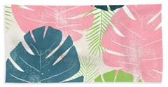 Colorful Palm Leaves 1- Art By Linda Woods Beach Towel