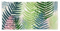 Colorful Palm Leaves 2- Art By Linda Woods Beach Towel