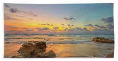 Colorful Seascape Beach Towel