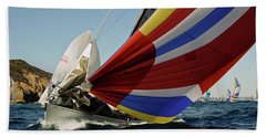 Colorful Spinnaker Run Beach Towel