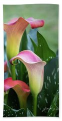 Colorful Spring Flowers Beach Sheet