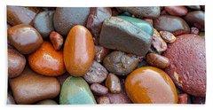Colorful Wet Stones Beach Towel