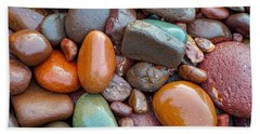 Colorful Wet Stones Beach Towel