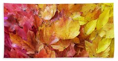 Colors Of Fall - Red To Yellow Beach Towel
