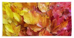 Colors Of Fall - Yellow To Red Beach Towel