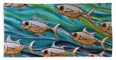Coloured Water Fish Beach Towel