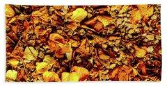 Colours. Autumn Gold Beach Towel