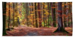 Beach Towel featuring the photograph Colours Of Nature by Edmund Nagele