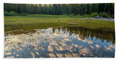 Colter Bay Reflections Beach Towel
