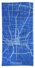 Columbus Ohio City Street Map Blueprints Beach Towel