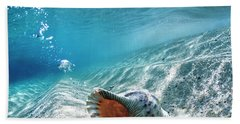 Conch Shell Bubbles Beach Towel