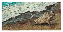 Beach Towel featuring the painting Conch Shell by Darice Machel McGuire
