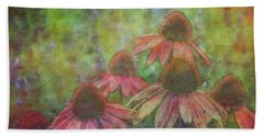 Coneflowers Among The Lavender 1667 Idp_2 Beach Towel