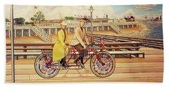 Coney Island Boardwalk Pillow Mural #5 Beach Sheet
