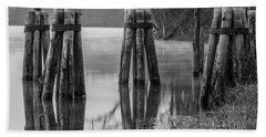 Connecticut River At Dawn Beach Towel