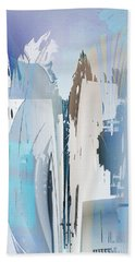 Cool Color Abstract Beach Towel