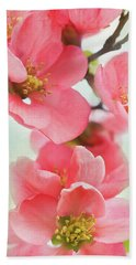 Coral Quince Beach Towel