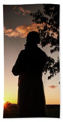 Corby At Sunset Beach Towel