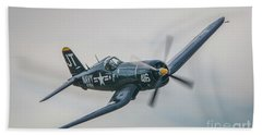 Beach Towel featuring the photograph Corsair Approach by Tom Claud