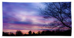 Cotton Candy Sunset In October Beach Towel
