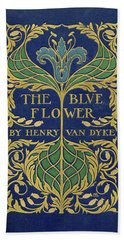 Cover Design For The Blue Flower Beach Towel