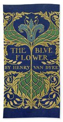 Cover Design For The Blue Flower Beach Towel