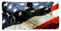 Cowboy Patriot Beach Towel